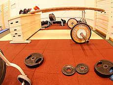 Picture shows Gym with Regupol Elastic Tiles