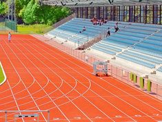 Regupol® AG running track at Ahorn Sports Park in Paderborn, Germany.