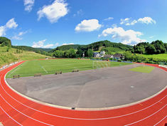 Regupol® PD IS synthetic running track at the Stadium in Gummersbach, Germany.