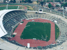 Regupol® compact running track at the Athletic Stadium in Johannesburg, South Africa.