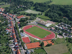 Regupol® AG IS synthetic running track at Stadium in Ohrdruf.