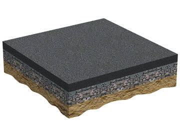 Asphalt layer on sub-ballast Regupol AG