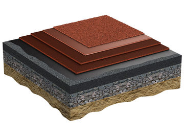 Application of the wearing surface consisting EPDM granules