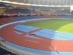 Regupol tartan® synthetic running track at the National Stadium of Kuala Lumpur.