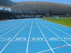 A skyblue Regupol® running track at Greenpoint Stadium, Cape Town, South Africa.