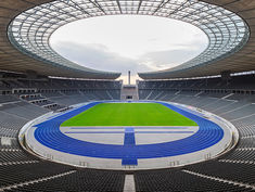 Usain Bolt set his two world records in Berlin. The blue tartan track was built by BSW.