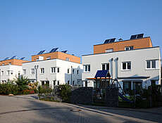 Regupol and Regufoam for bedding of buildings in a housing development REGUPOL BSW GmbH
